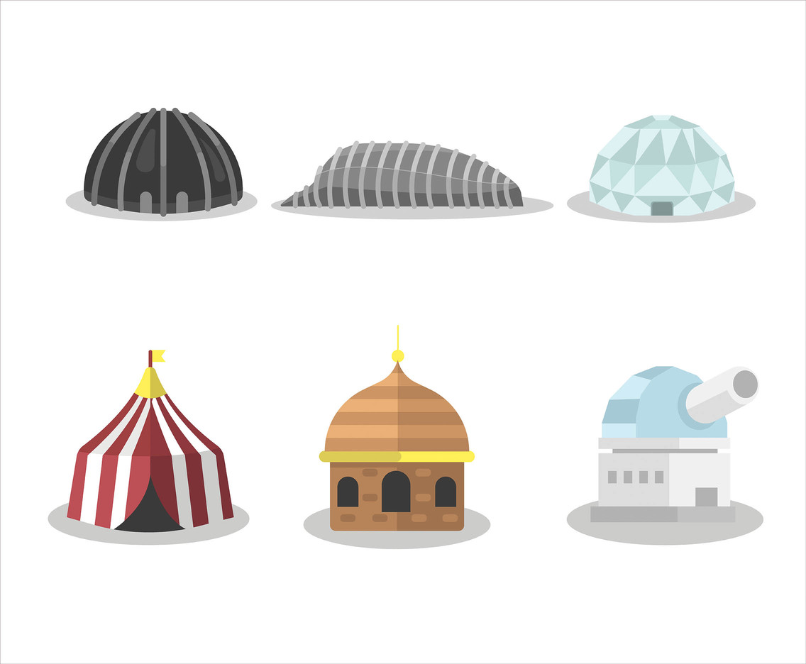 Dome Vector in Flat Design