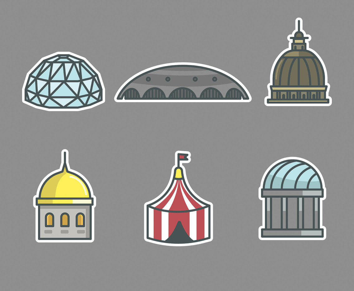 Dome Types Vector