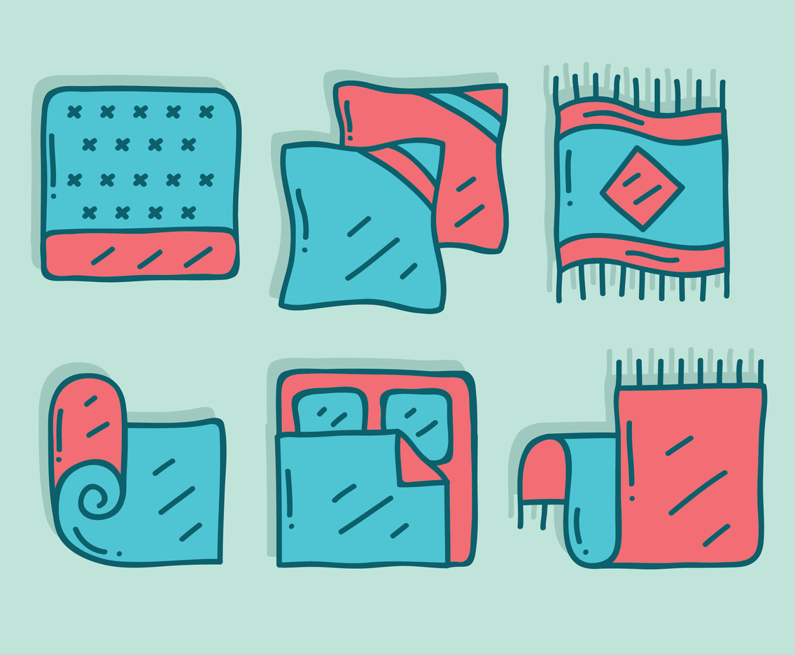 Hand Drawn Sleeping Accessories Vector