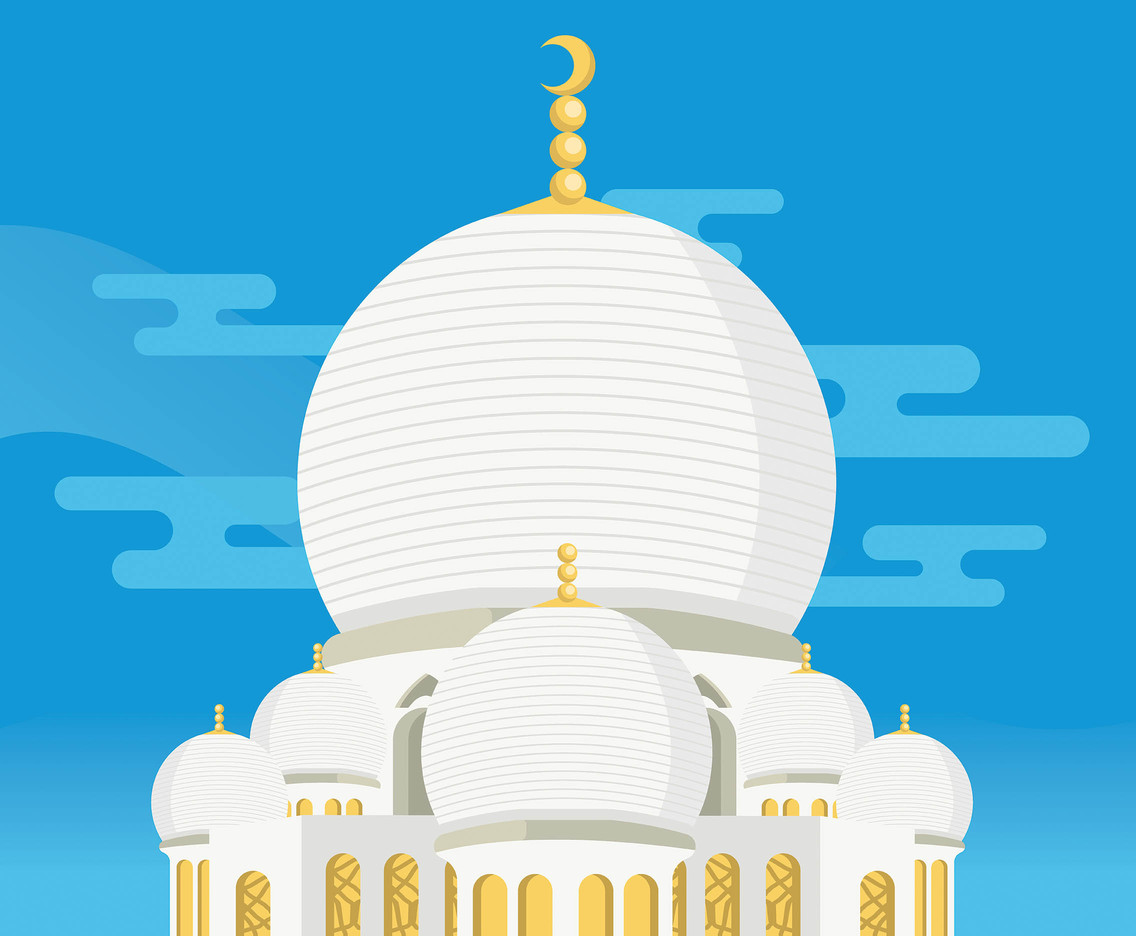 White Dome Vector