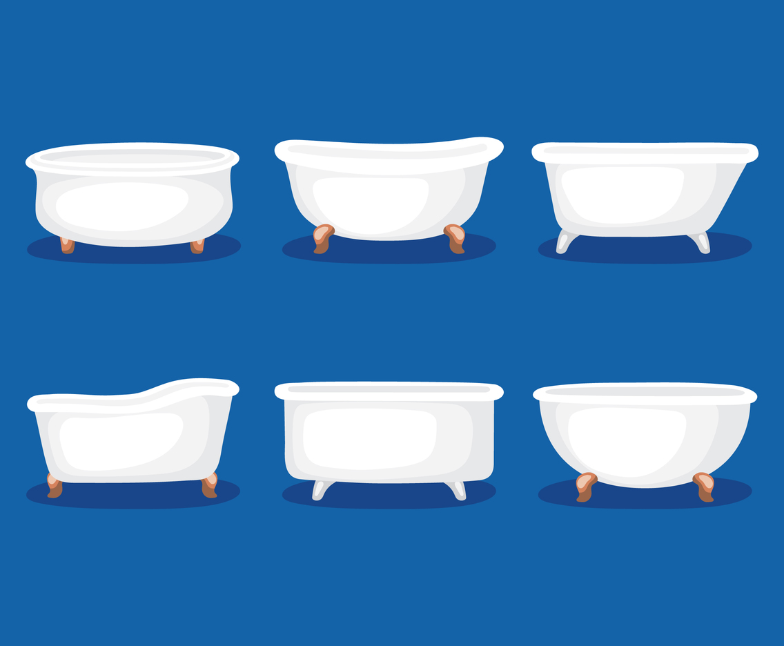 Bathtub Vector Set