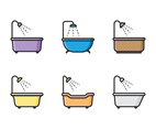 Bathtub Icon Set