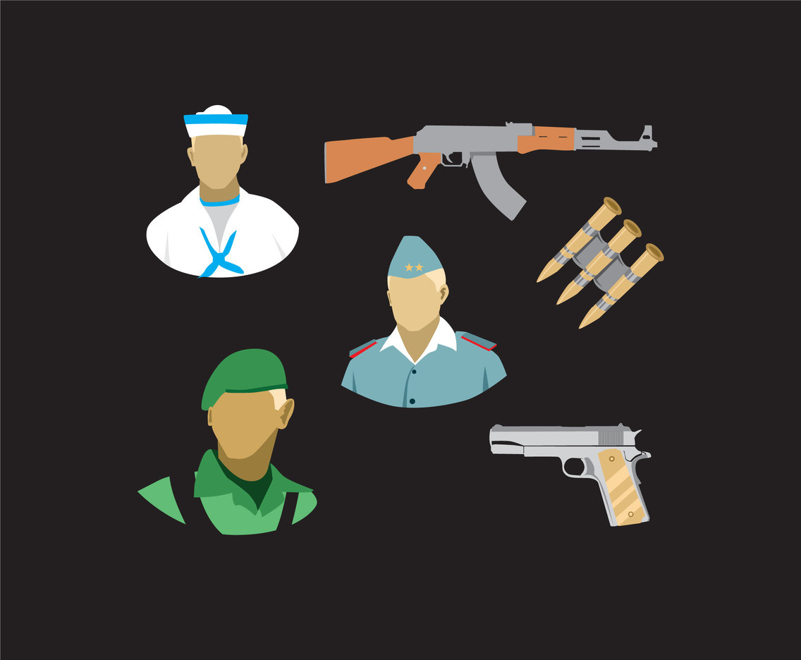 Army Illustration Vector
