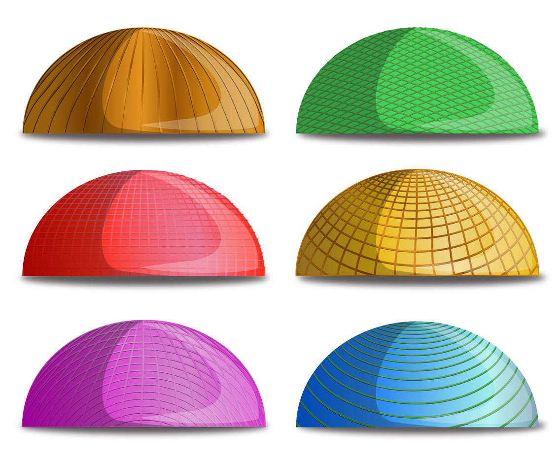 Six Dome with Different Linear Details Vectors