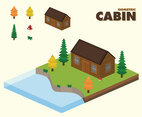 Isometric Cabin Vector