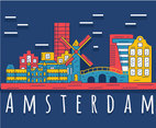 Hand Drawn Amsterdam City Vector