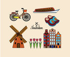 Amsterdam Illustration Vector