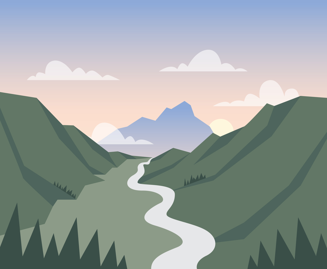 Valley Lanscape Illustration