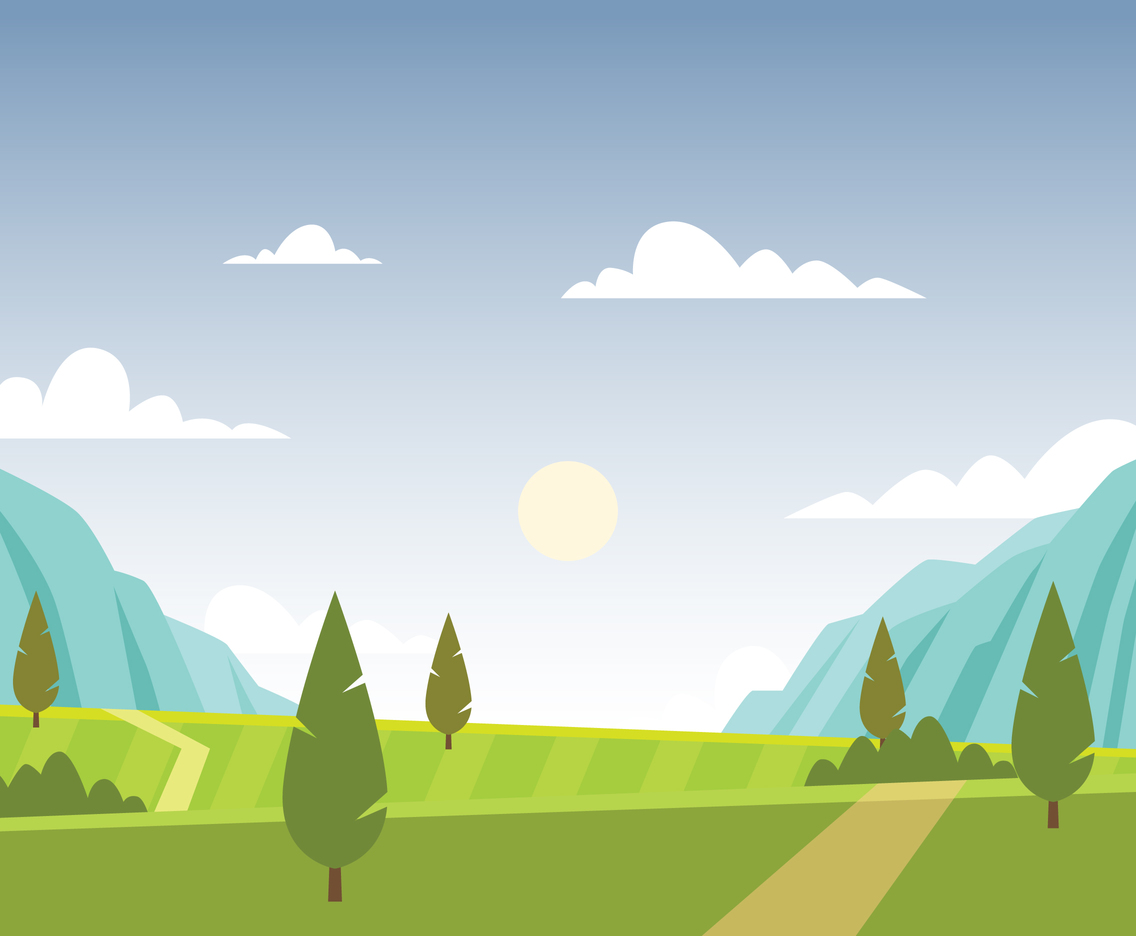 Landscape of Valley Illustration