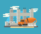 Concrete Mixing Truck Vector