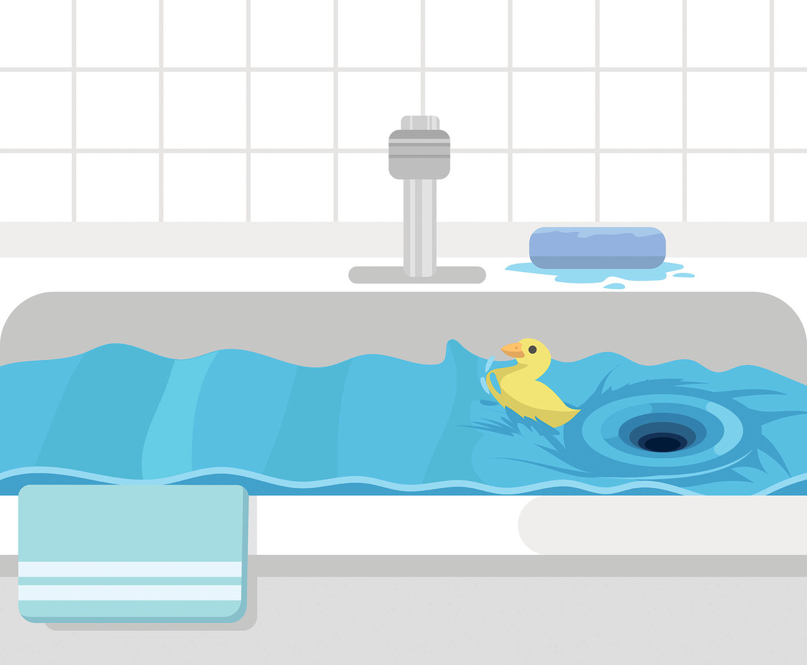 Whirlpool in Bathtub Vector
