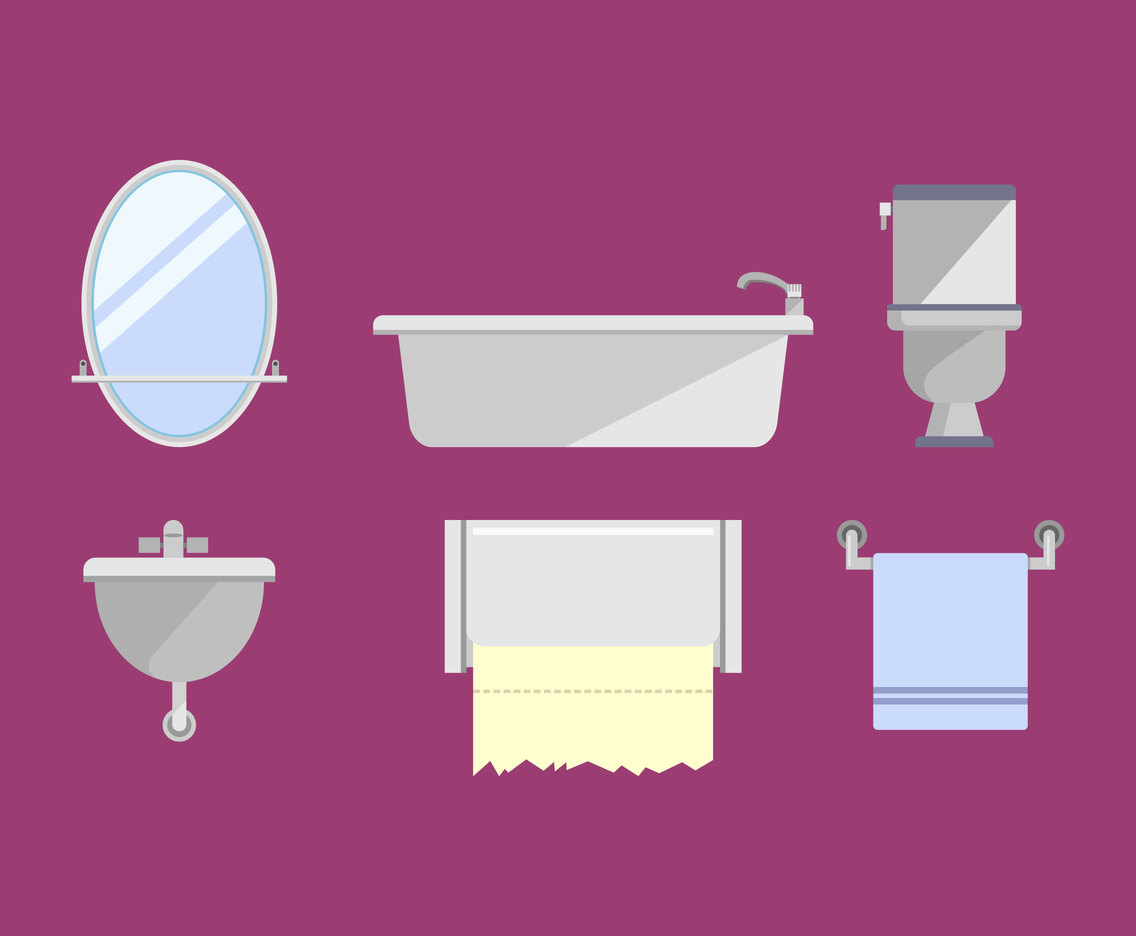 Bathroom Fixtures Vector