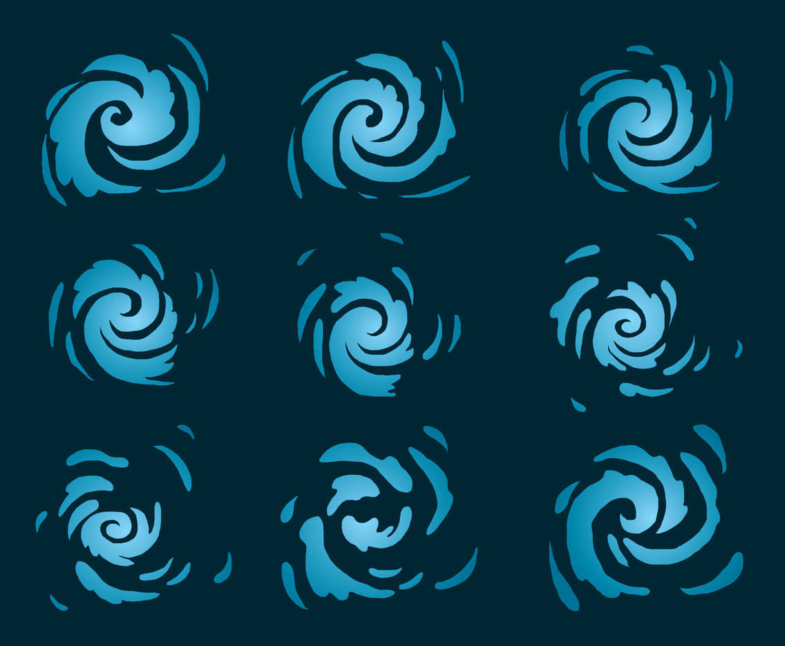 Blue Whirlpool Collection Vector