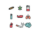 Set Of Icons About Smoking