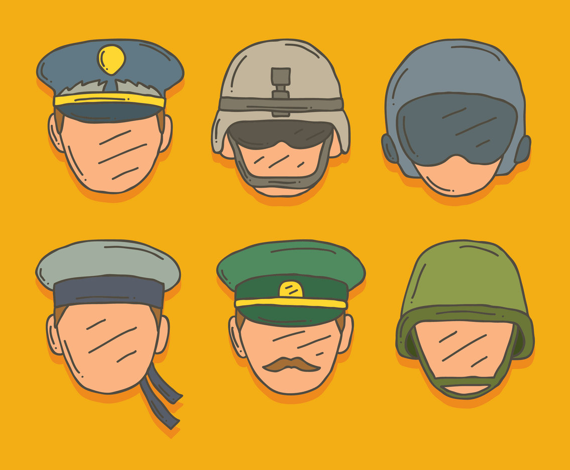 Hand Drawn Trooper Collection Vector