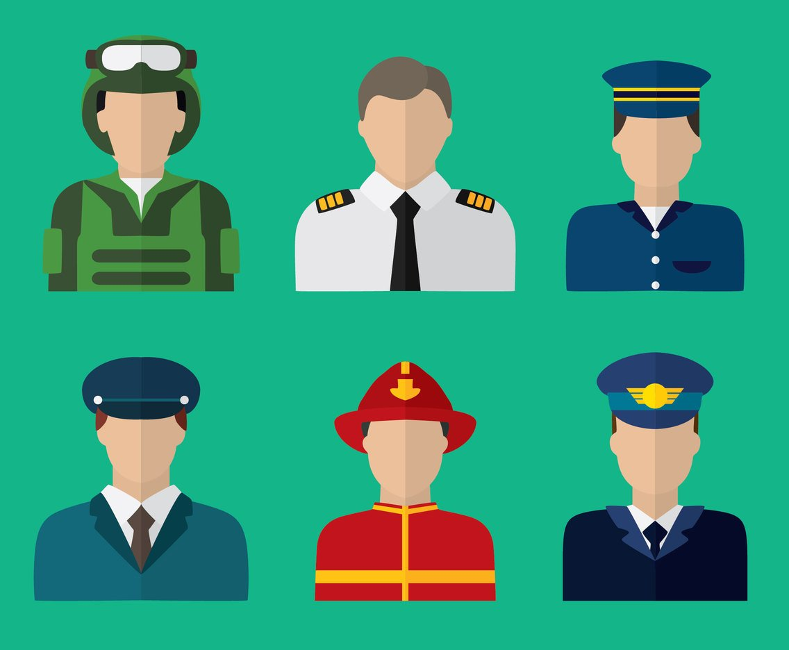 Flat Trooper Collection Vector