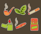 Tobacco And Smoke Vector