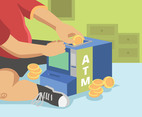 ATM Illustration Vector