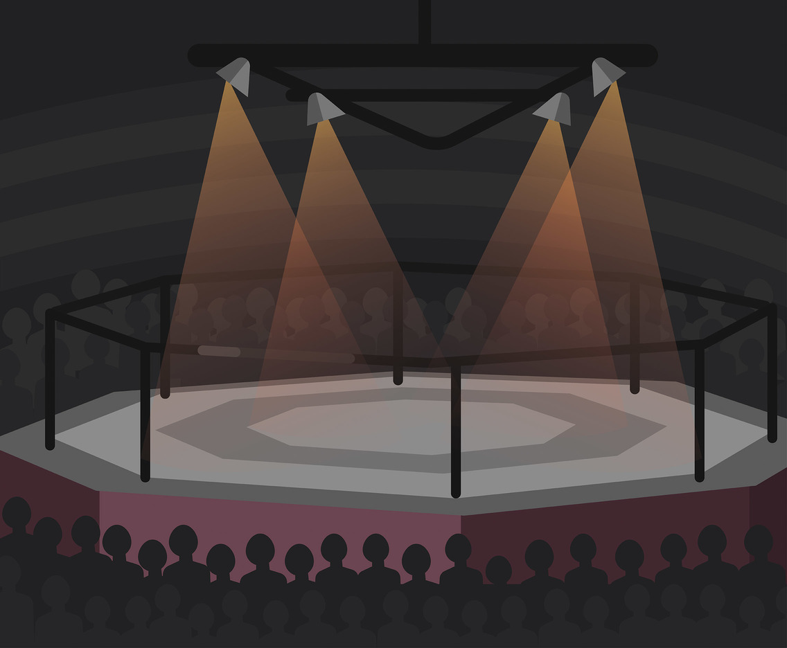 Boxing Arena Vector