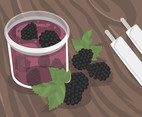 Blackberry Jelly Vector