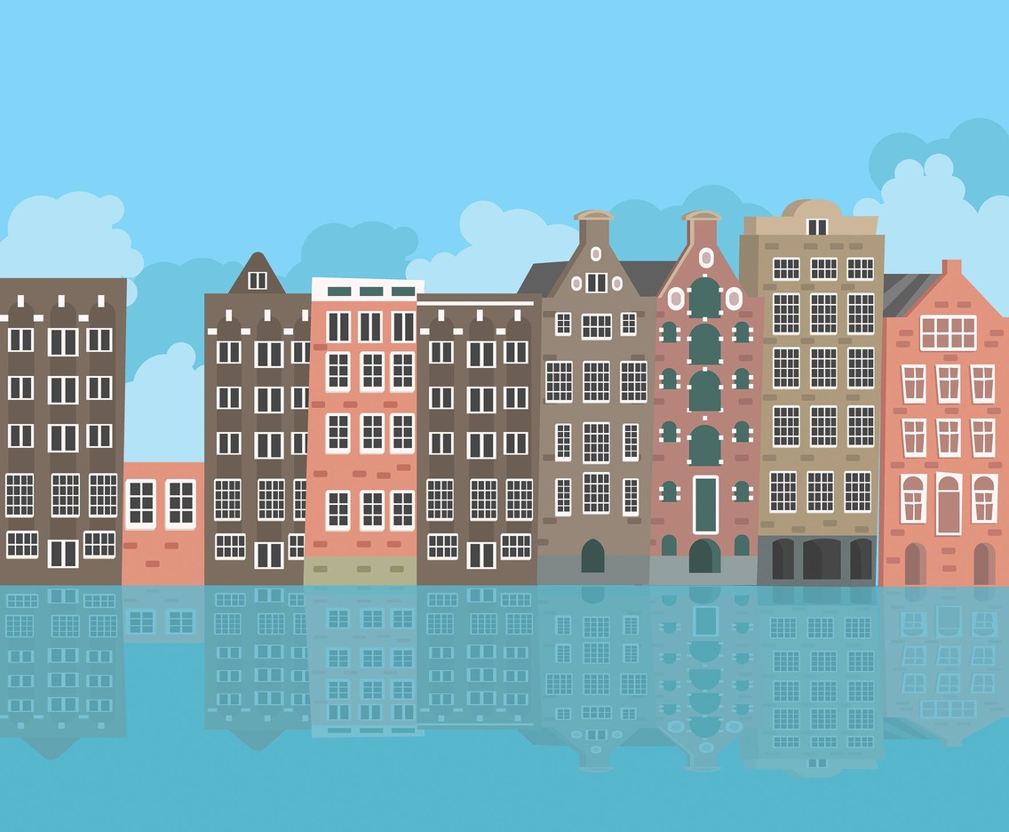 Amsterdam Canal Houses Vector