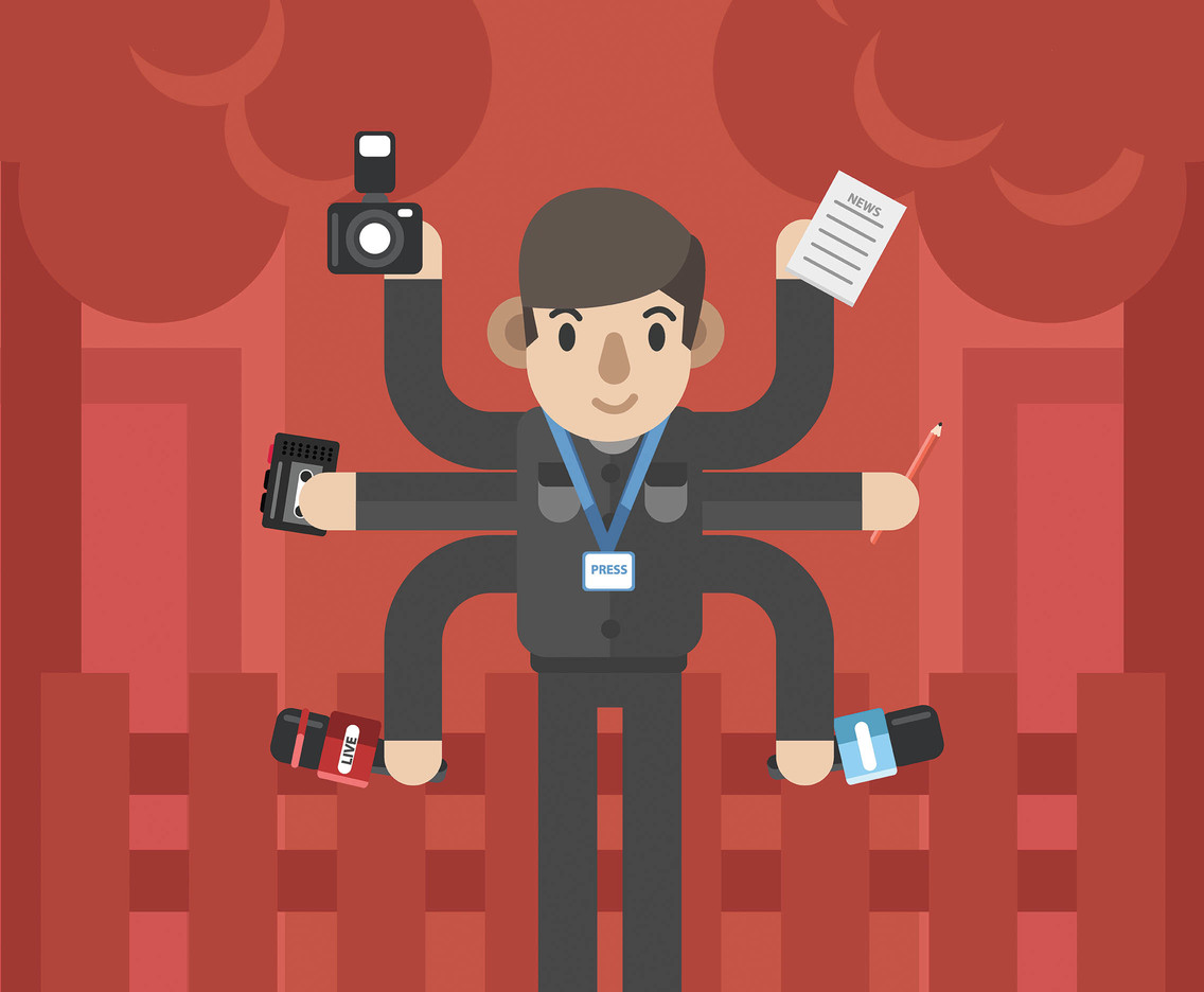 Journalist Work Vector
