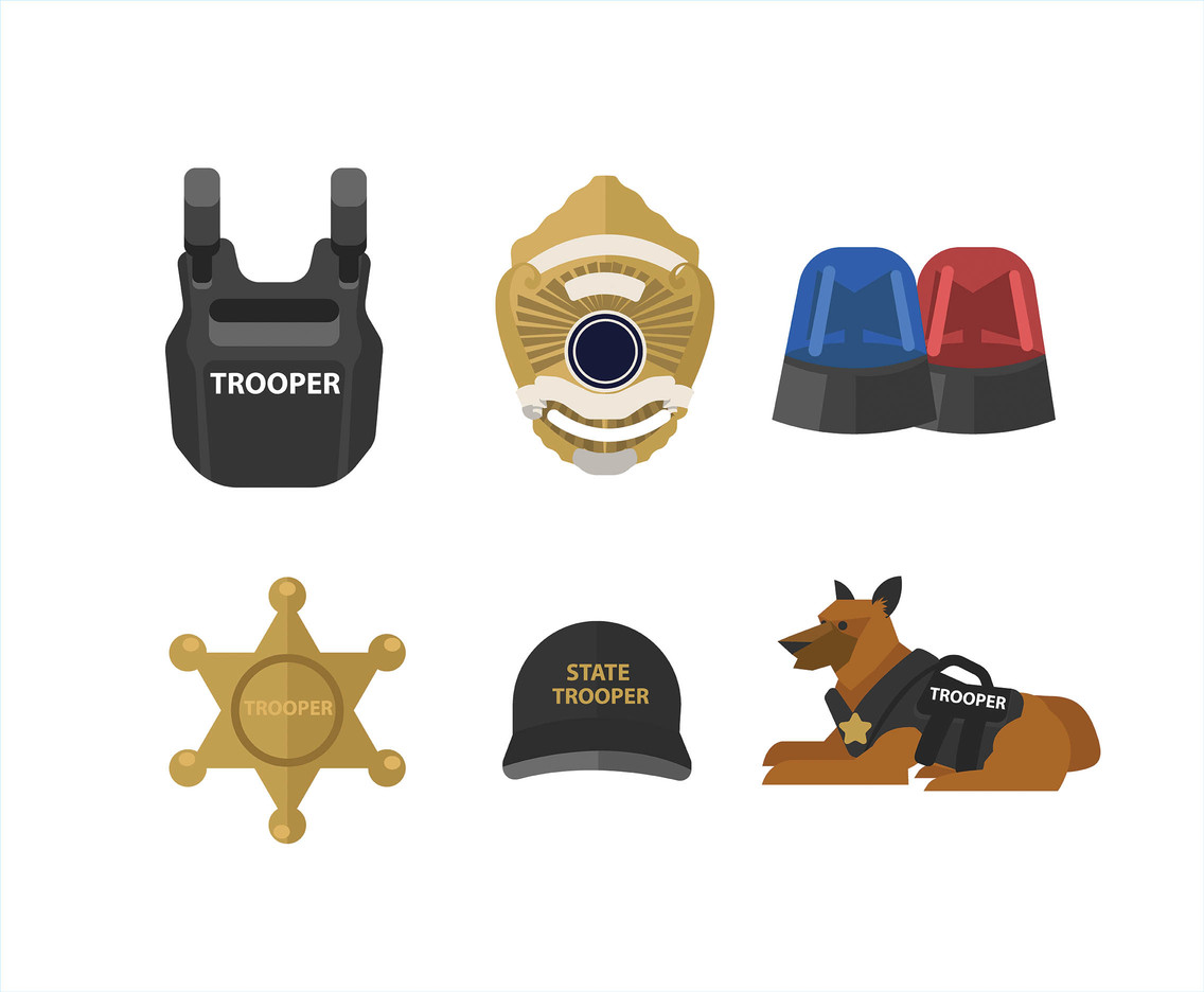 State Trooper Equipment Vector