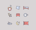 Outlined Icons About Rest And Sleeping