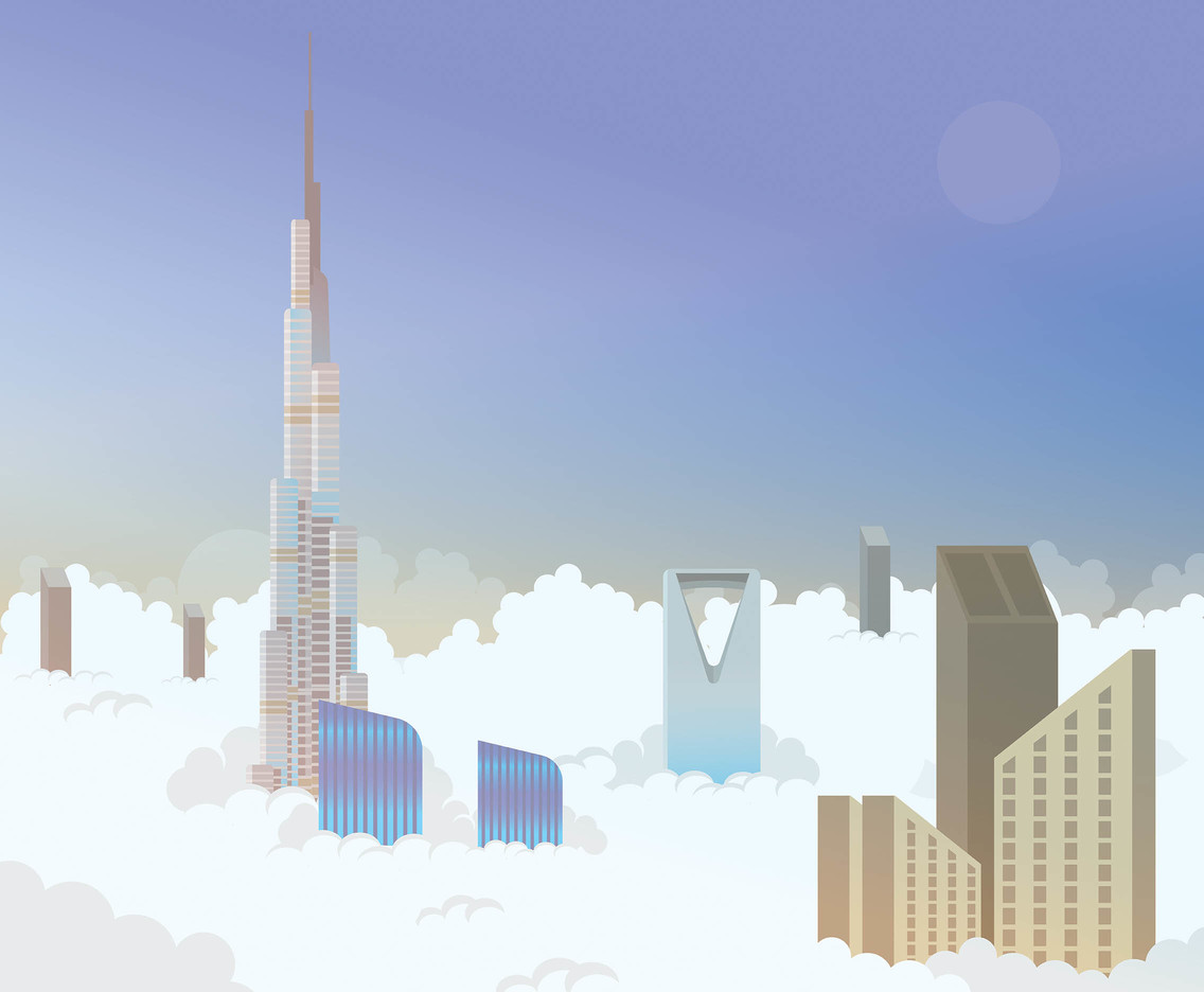 Saudi Burj Khalifa Tower Vector
