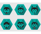 Husky Breed Dog Vectors