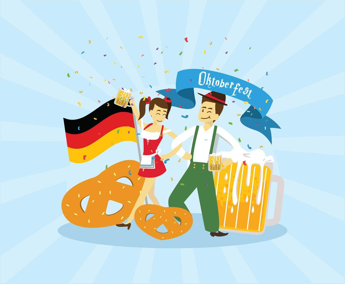 Free Oktoberfest Couple Vector