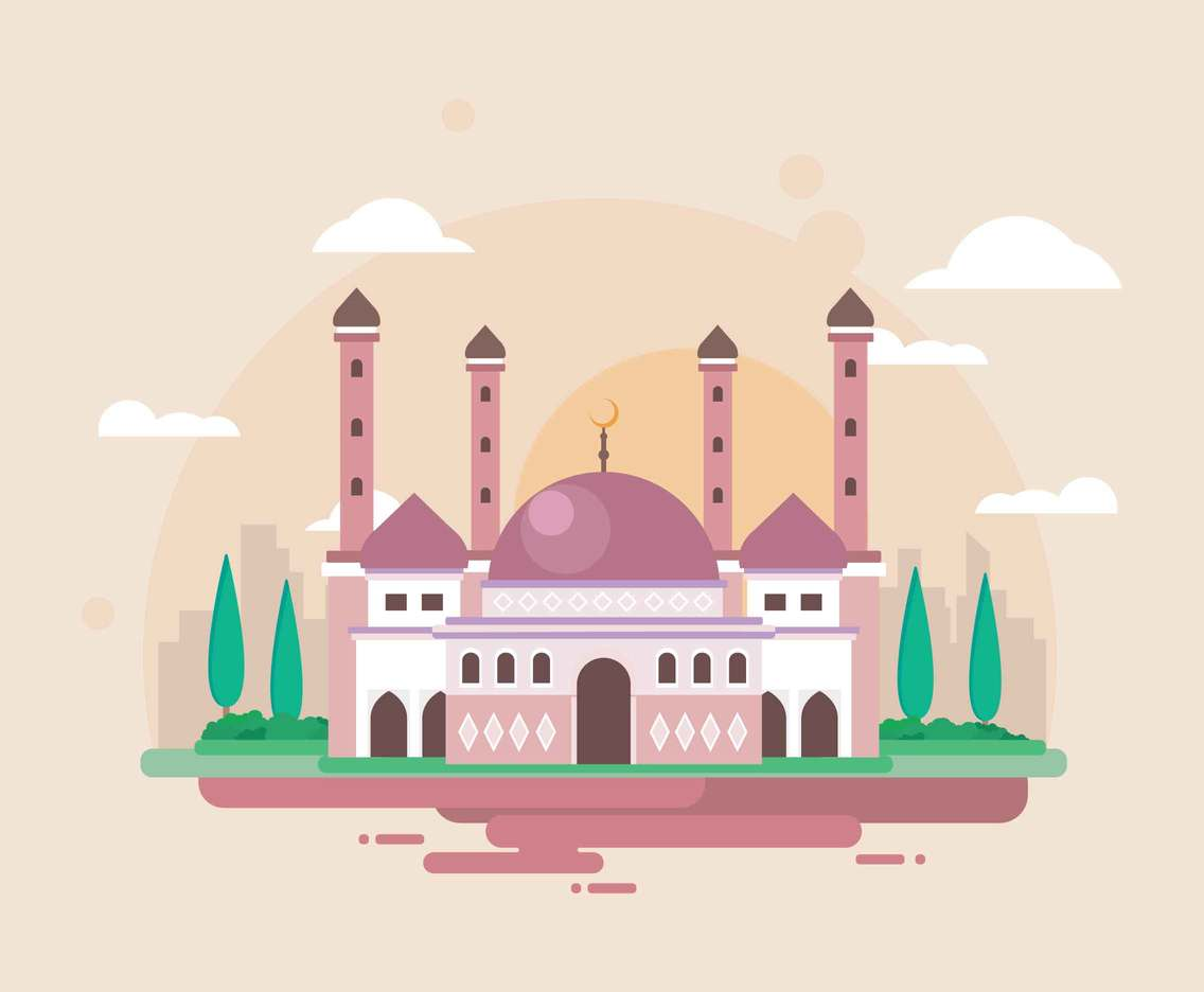 Dome Of The Rock Illustration
