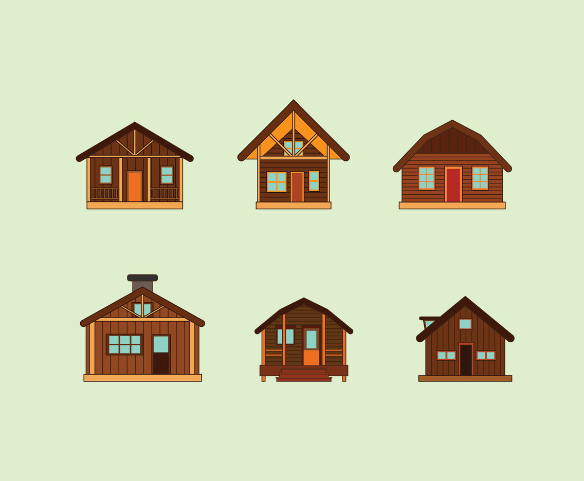 Wooden Houses Vector