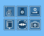 Medical Treatment Icons Vector