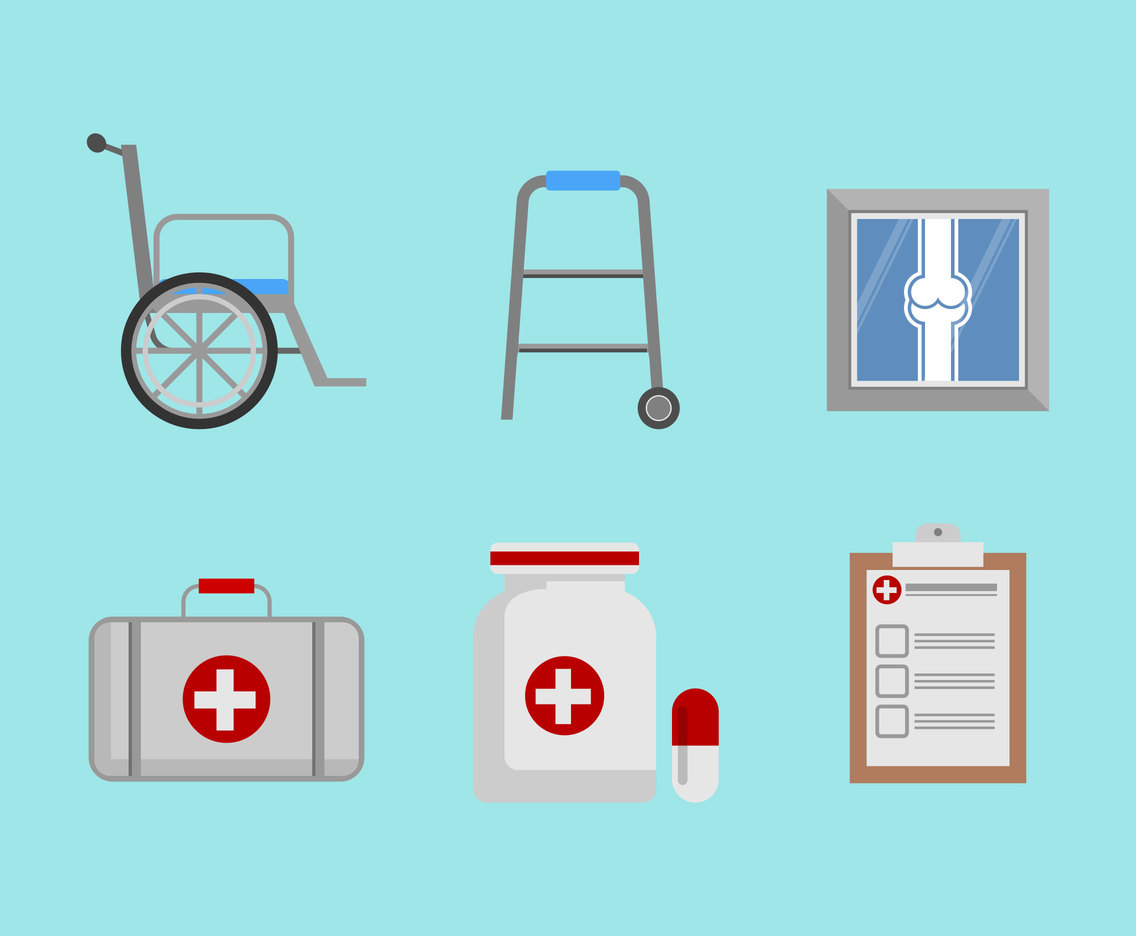 Physical Therapy Icons Vector