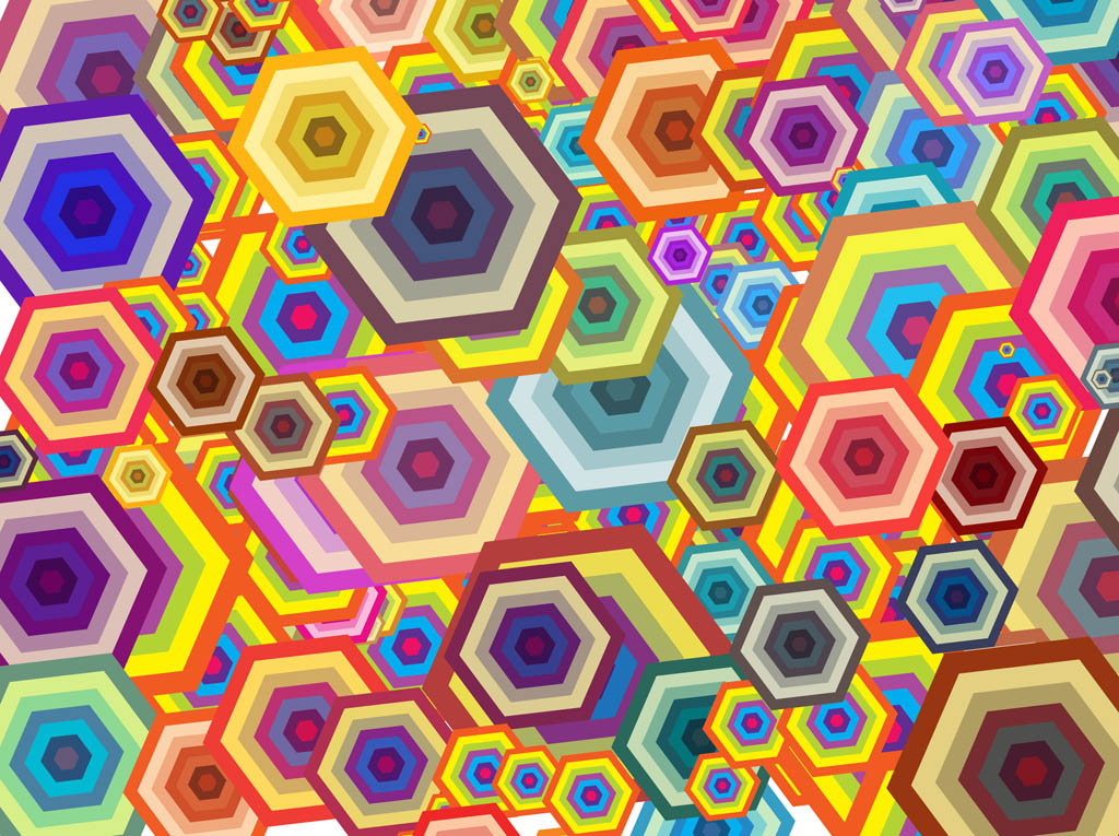 colorful shapes background created - photo #35