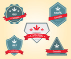 Cannabis Badges Vector Pack
