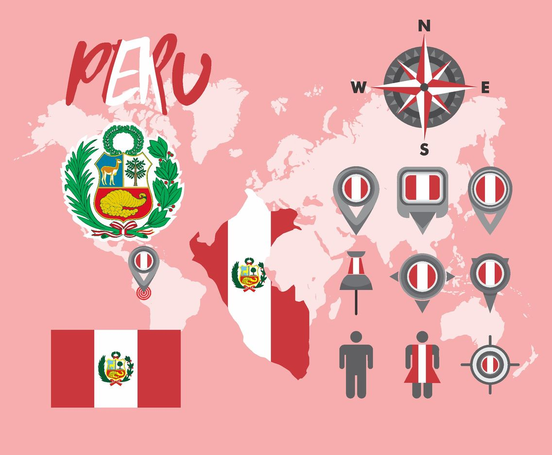 Peru Map Vector Pack