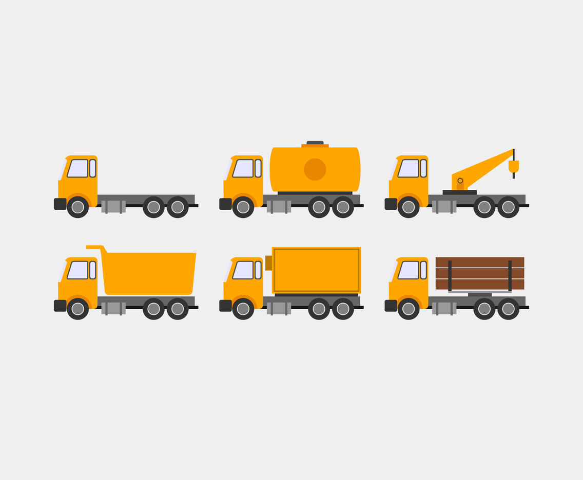 Big Trucks Vector