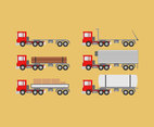 Various Trailer Trucks Vector