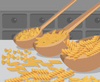 Dried Pasta Vector