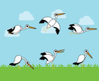 Cartoon Storks Vector