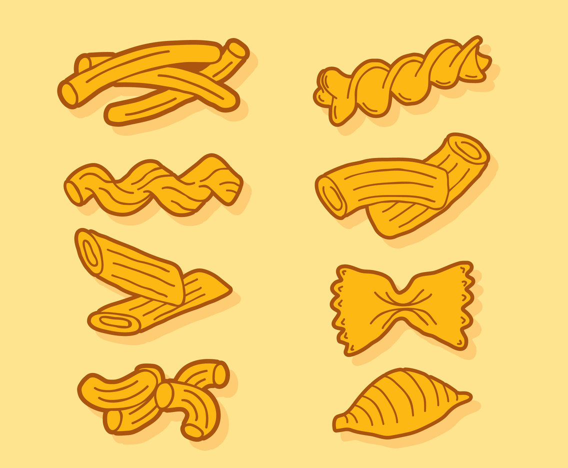 Italian Pasta Collection Vector