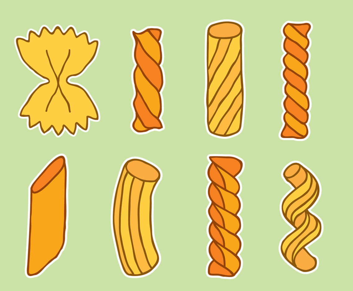Hand Drawn Pasta Collection Vector