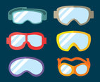 Colored Flat Goggles Vector