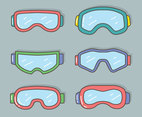 Goggles Collection Vector