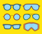 Eye Glasses And Goggles Vector