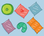 Hand Drawn Pillow Collection Vector