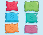 Colored Pillow Collection Vector