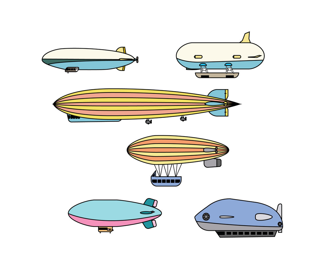 Various Airships Vector